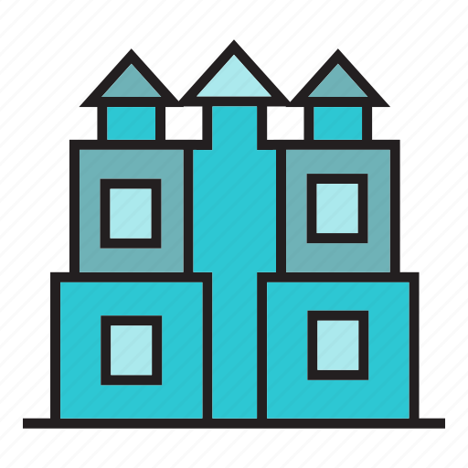 building, castle, edifice, office, palace, tower icon