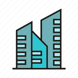 building, edifice, office, real estate, residence, structure, tower icon