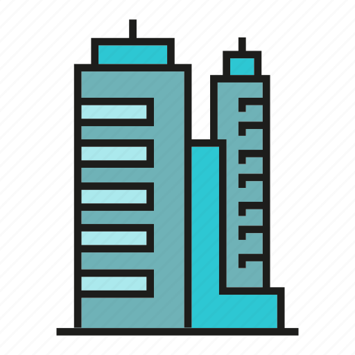 accommodation, apartment, condo, hostel, office, real estate, tower icon