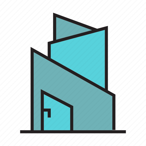 building, edifice, home, house, office, residence, tower icon
