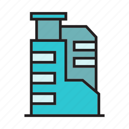 accommodation, apartment, building, hostel, office, residence, tower icon