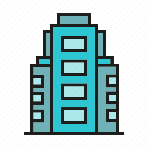 accommodation, apartment, hostel, office, real estate, residence, tower icon