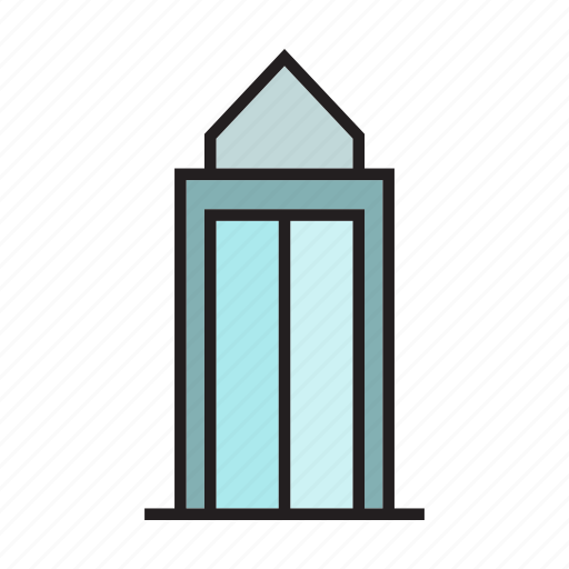 building, door, edifice, office, real estate, residence, tower icon