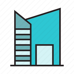 accommodation, apartment, home, hostel, house icon