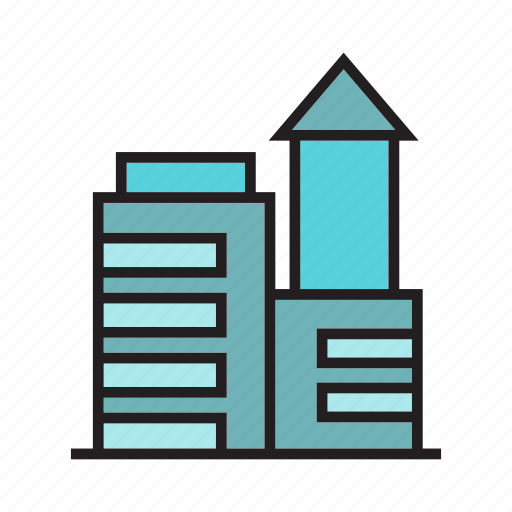 accommodation, apartment, building, hostel, house, office, tower icon