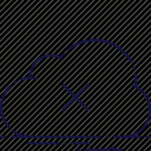 cloud, disconnect, error, fail, failure, oops, trouble icon