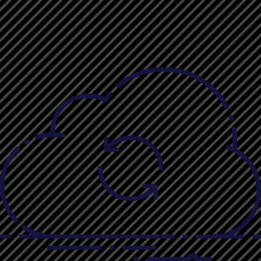 cloud, download, refresh, repeat, storage, update, upload icon