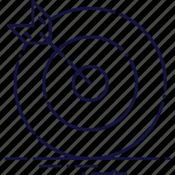 arrow, business, center, dart, focus, target, winner icon