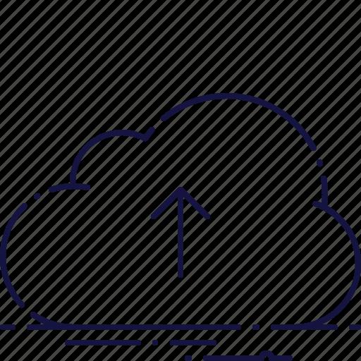 arrow, cloud, data, guardar, save, server, storage, upload icon