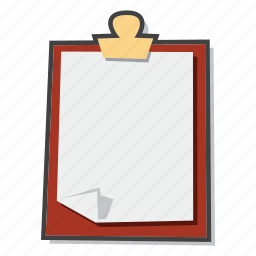 clipboard, document, notepad icon