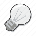 business idea, energy, light bulb icon