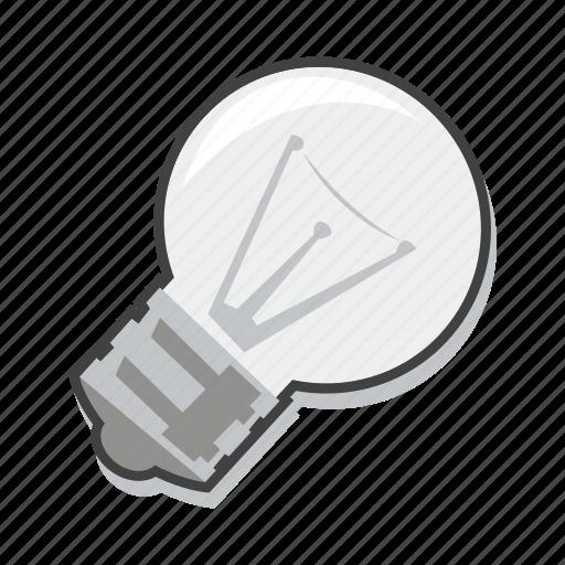 business idea, energy, light bulb icon