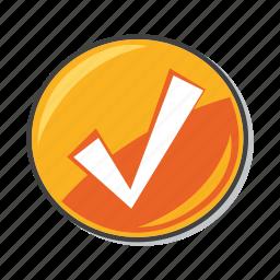 accept, approve, check mark, done icon