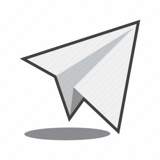 mail, paper plane, send email icon