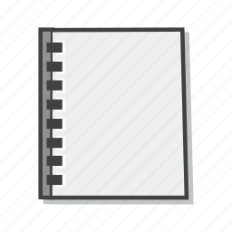 notebook, notepad, office icon