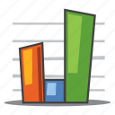 analytics, bar graph, sales, statistics icon