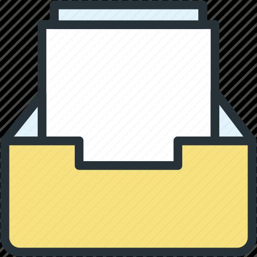 inbox, office, work icon