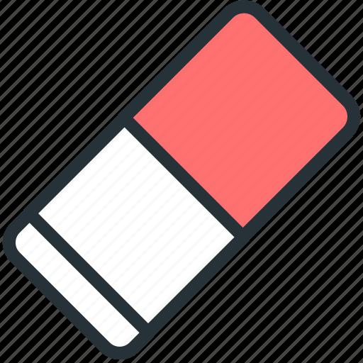 eraser, office, work icon