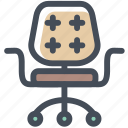 armchair, chair, furniture, office, place, sit icon