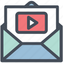email, newsletter, video, youtube icon