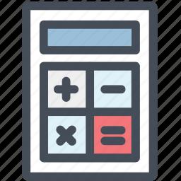 accounting, calculator, machine, math icon