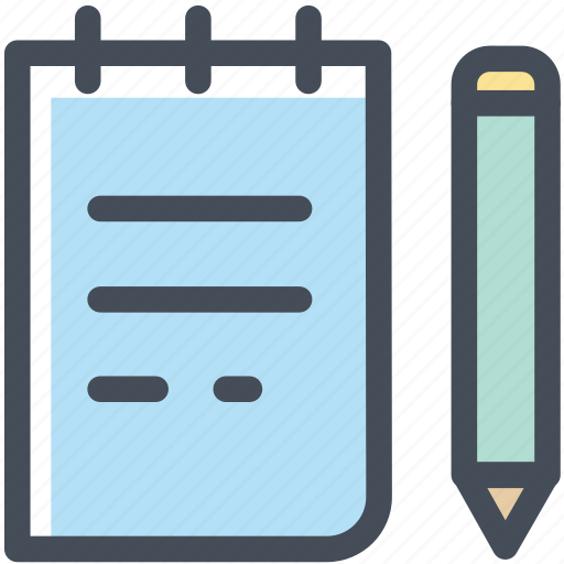 compose, note, notepad, office, paper, pencil, write icon