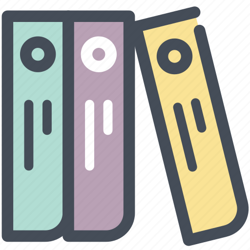 documentation, documents, folders, history, library, office, stack icon