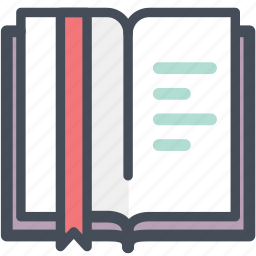 book, bookmark, library, office, quotation, read, reading icon