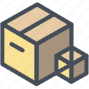 box, boxes, delivery, materials, office, package, stuff icon