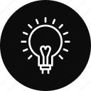creative, idea, lamp, light icon