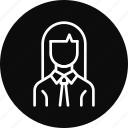 avatar, businesswoman, employee, office, woman, worker