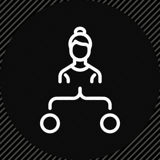 chart, diagram, employee, task, workflow icon