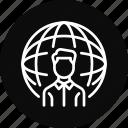 client, employee, freelancer, international, remote, work icon