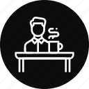 desk, employee, office, table, work icon