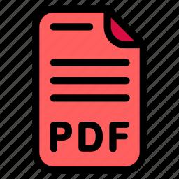 doc, document, format, pdf icon