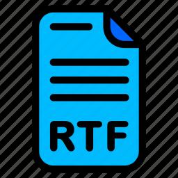 doc, document, rtf, word icon