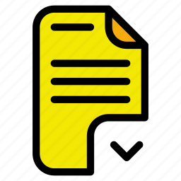 document, export, move icon