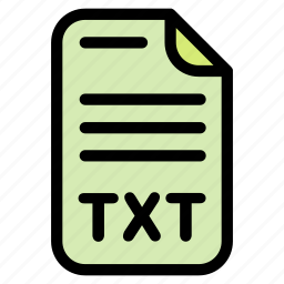 document, notebook, text, txt icon