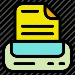plotter, printer, printing, scanning icon