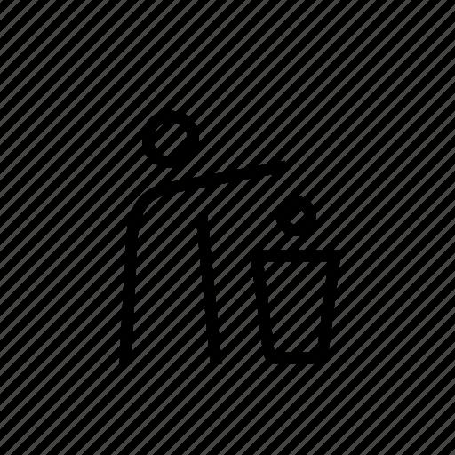 bin, person, recycle, rubbish, trash, waste icon