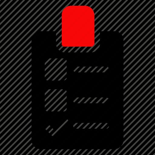 checklist, list, note, office icon