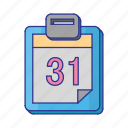 calender, office, schedule icon