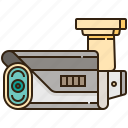 camera, circuit, closed, protection, security icon