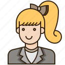 avatar, employee, female, girl, woman icon