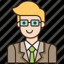 avatar, business, employee, male, man