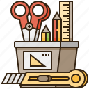 creative, design, equipment, stationery, tool icon