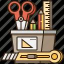 creative, design, equipment, stationery, tool