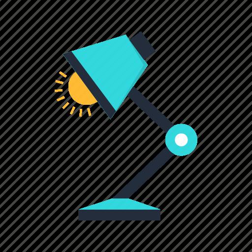 bulb, desk, lamp, light, office icon