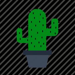 cactus, decoration, flower, flowerpot, office, plant, room icon