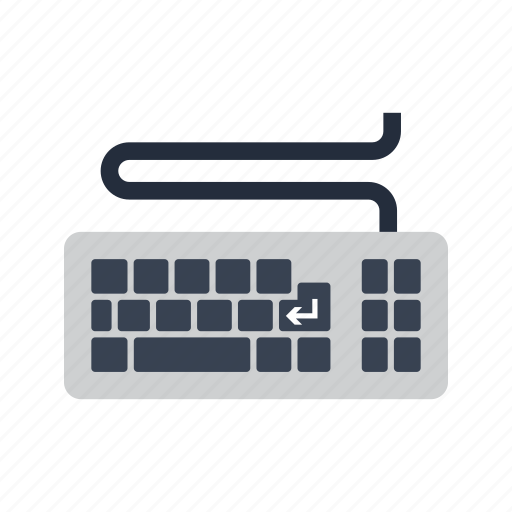 Cable, computer, device, hardware, input, keyboard, typing icon - Download on Iconfinder